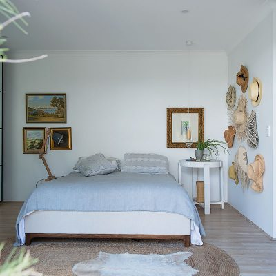 White Bedroom with hats 2