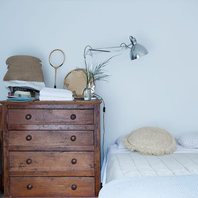 Wooden Cabinet White Bed