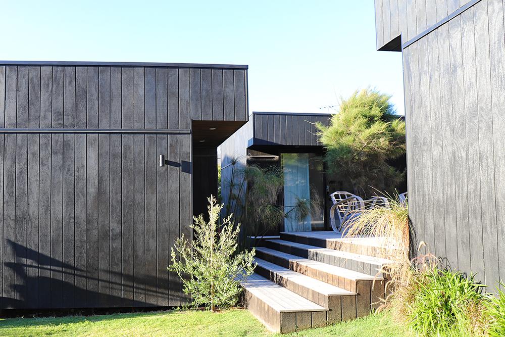 black exterior home
