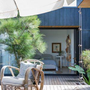 timber deck home